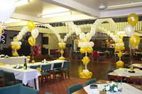 Dance floor balloon canopy