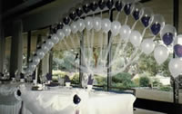 Wedding balloons and ribbons