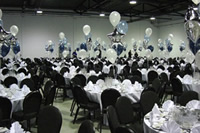 Helium balloon table centrepieces