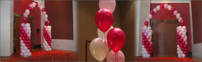 Balloon arches created by Helium Balloons & Events, Auckland