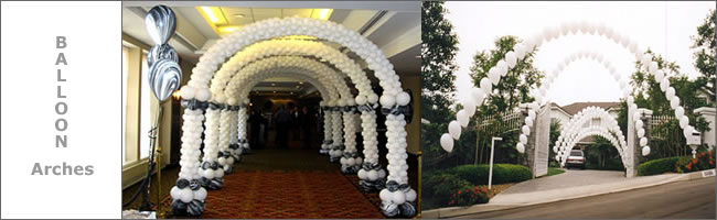 Structured and freeflowing balloon arches