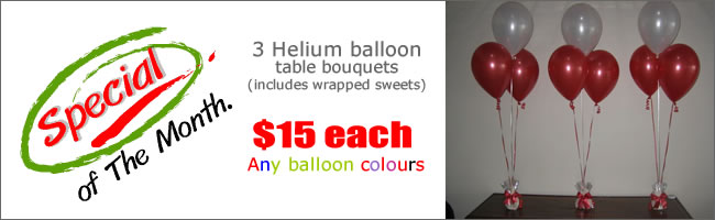 $15 Xmas balloon bouquet special!