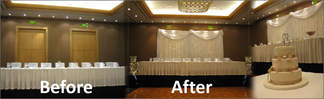 Portable Lighting System For Fairylight Bridal Table Backdrops