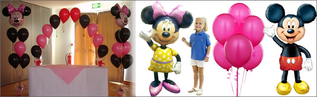 Iant themed disney balloon bouquets and balloon airwalkers