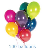 100 helium balloons special