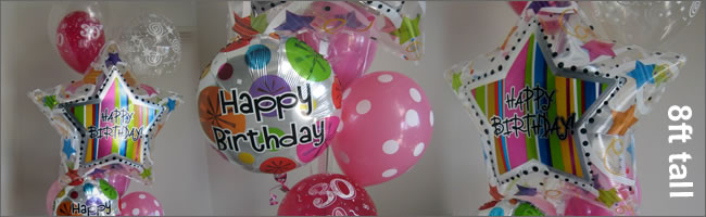 Giant helium balloon bouquet gift item