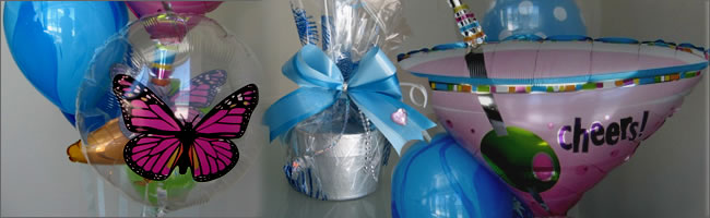 Beach inspired balloon bouquet gift item
