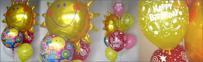 Giant sunshine balloon bouquet gift item