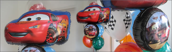 Giant car themed balloon bouquet