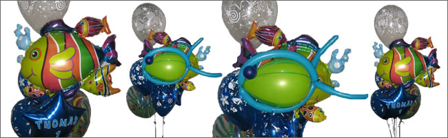 Funky fish giant balloon bouquet for the fisherman in your life!