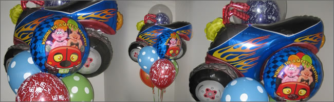 Giant get well balloon bouquet