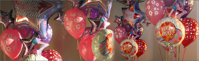 Happy Birthday giant helium balloon bouquet