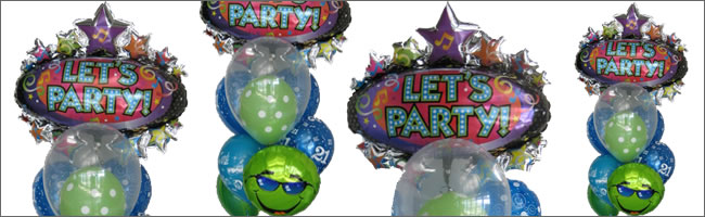 Giant party balloon bouquet