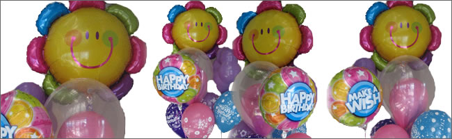Smiley flower balloon bouquet