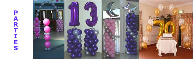 Balloon decor using number balloons