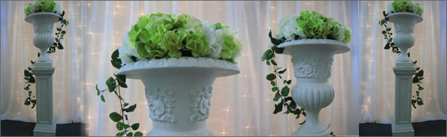 We can supply flowers to decorate urns