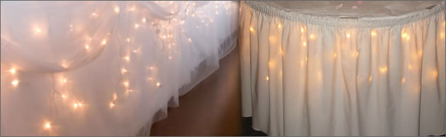 Large bulb Christmas lights for barn reception wedding lighting outdoor