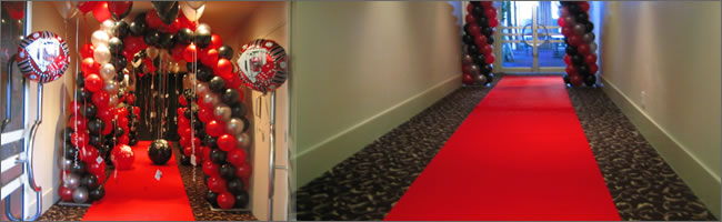 Retirement party tables retirement party decorating ideas - Casino Los Vegas And Gangster Themed Helium Balloons And