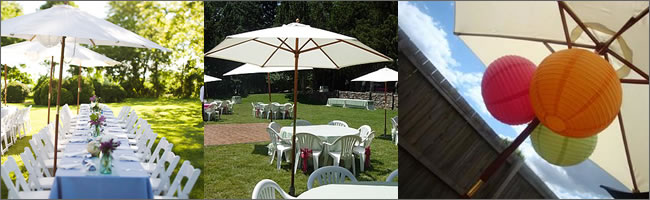 WHITE UMBRELLAS FOR WEDDINGS, PARTYS, SHOWERS, SPECIAL EVENTS