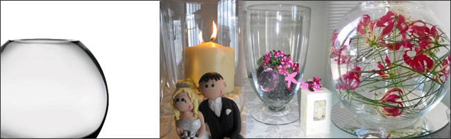 Wedding vase hire