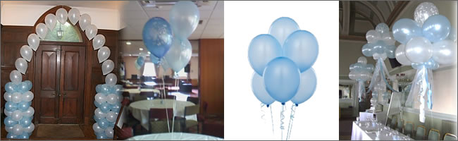 Blue wedding balloons