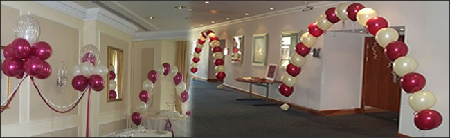 Wedding helium balloon decor