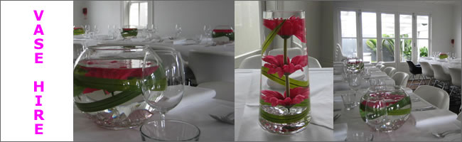 Hire wedding vases