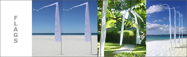 Bali wedding flags
