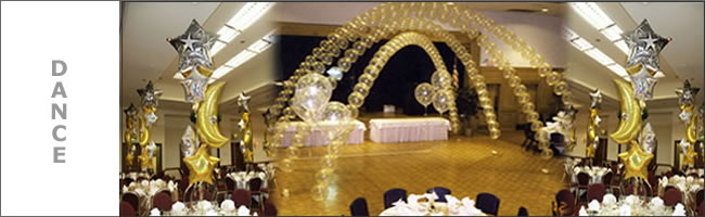 Wedding balloon dance floor canopy