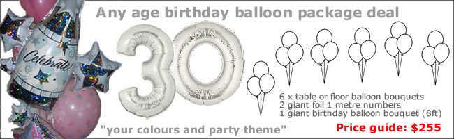 Balloon decor package deals and party packs auckland for 30th birthday decoration packages