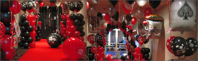 Casino Los Vegas And Gangster Themed Helium Balloons