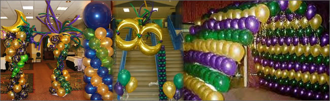 Mardi Gras Balloon Decorations Party Favors Ideas